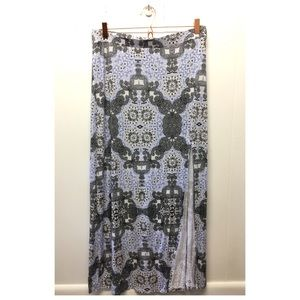 Charlotte Russe | Bohemian Maxi Skirt W/ Side Slit